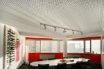 интерьер офиса в красных тонах