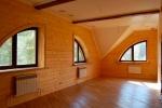 интерьер деревяннйо мансарды