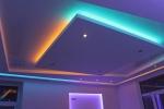 оформление подсветкой потолка
