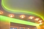 светильники в коробе из гкл