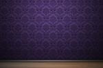 фиолетовые тона в зале
