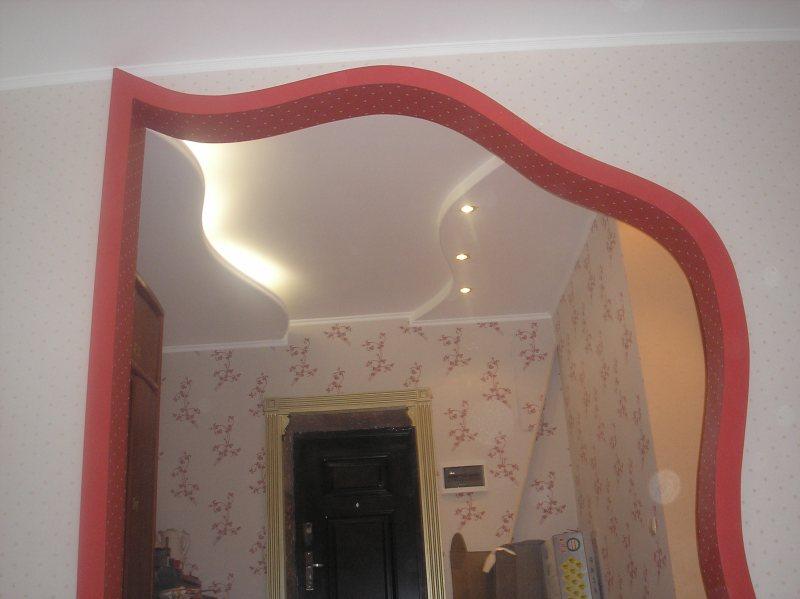 позитивные фигурные арки из гипсокартона фото подойдет середины