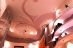 криволинейные фигуры на потолке