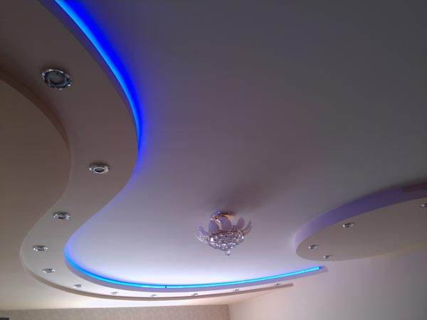 криволинейные потолки из гипсокартона фото тем, как