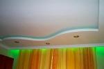 зеленые светильники на потолке