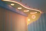 оригинальное освещение зала