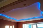 потолок волной с синей подсветкой