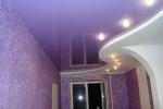 фиолетовые тона в комнате