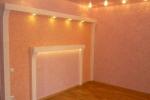 готовый интерьер в комнате
