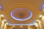 круглый узор на потолке