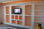 оранжевые цвета в отделке зала