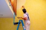 процесс покраски стен из гкл