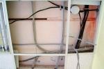 пример проводки на потолке