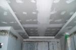 процесс отделки потолка