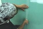 наклеивание ленты серпянки