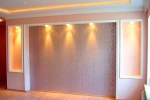 отделка и подсветка стены