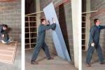 монтаж листов к стене