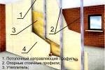 схема перегородки