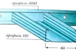 схема с размерами стоечного профиля