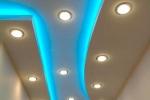 гипсокартоный потолок с освещением