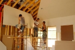 сборка потолка из гкл