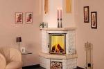 камин из гипсокартона по цвет комнаты