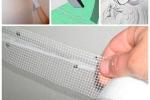 монтаж армирующей ленты на гипсокартон