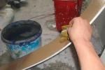 смачивание листа