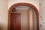 отделка мозаичной плиткой перегородки