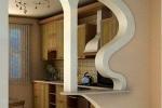 колона в оформлении кухни