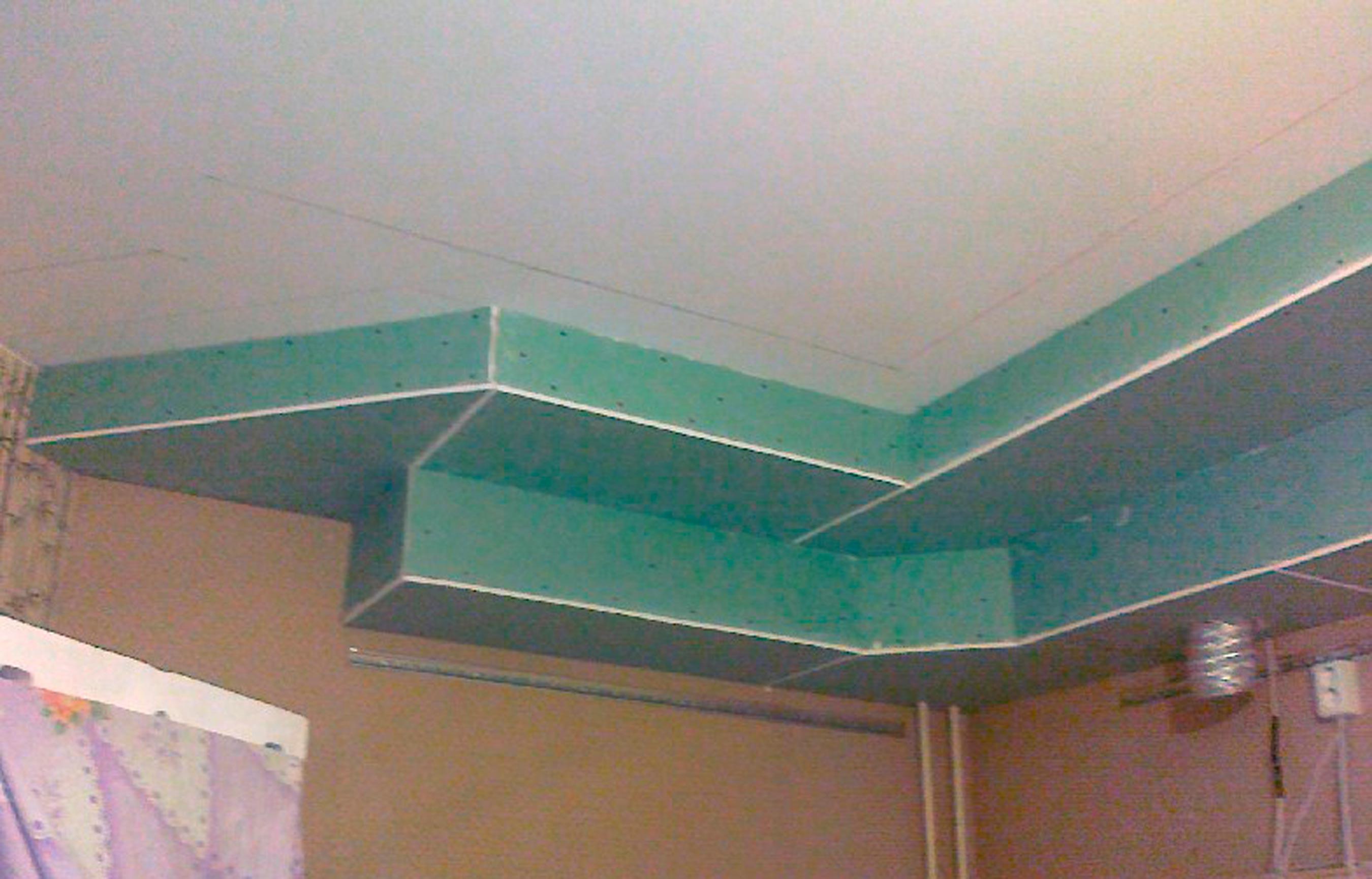короб гипсокартон на кухне