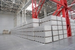 упакованный гипсокартон на складе