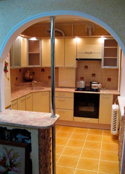 Как сделать арку на кухне фото 531