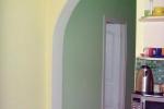 покраска полуарки в помещении