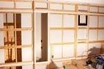 каркас из дерева для стенки