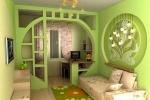 оригинальная конструкция стенки в комнате