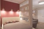стенка с полками в спальне
