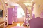 стена из гкл в розовых тонах