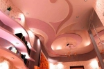 криволинейный потолок из гкл