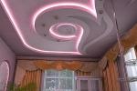 неоновое освещение потолка