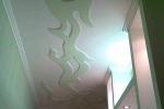 оформление потолка гипсовыми листами
