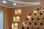 оформление узорами стен и потолка