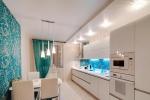 отделка кухни в светлых тонах
