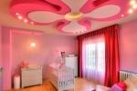 розовые тона в детской комнате