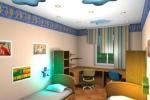 детская комната с потолком из гипсокартона