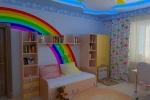 радуга из гипсокартона в детской