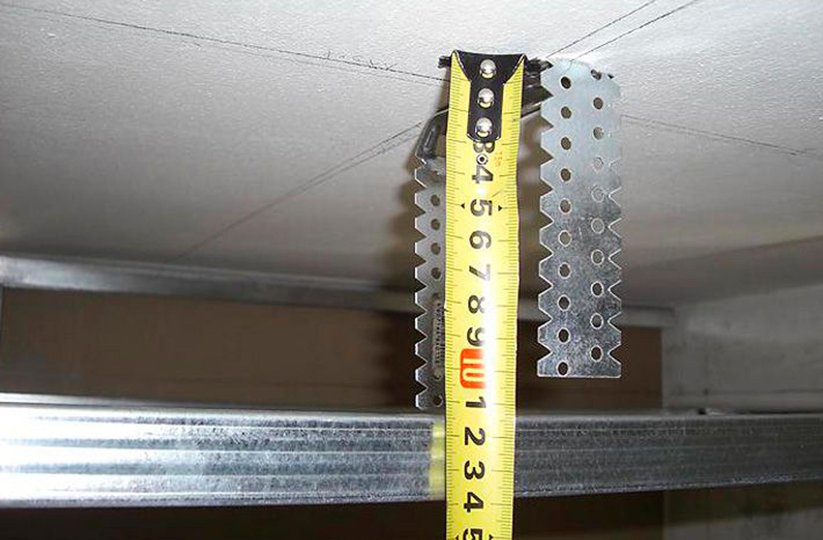 подвесы для потолка размеры