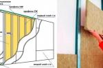 схема устройства перегородки