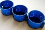 синие подрозетники
