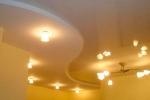 гипсокартонный криволинейный потолок